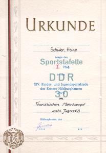 Urkunde Kreismeisterschaft